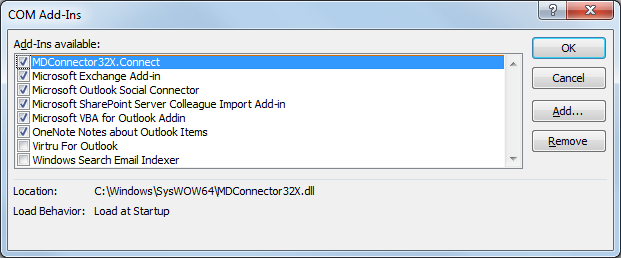 Disable Outlook Add-Ins