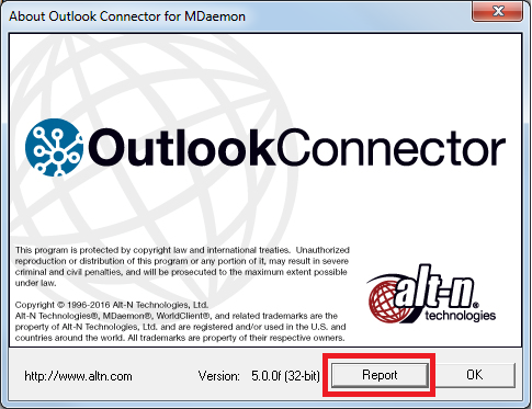 Outlook Connector - Generate Configuration Report