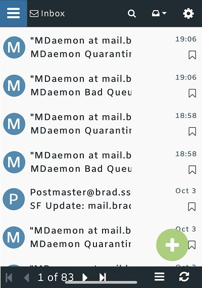 MDaemon Webmail - New Mobile Theme